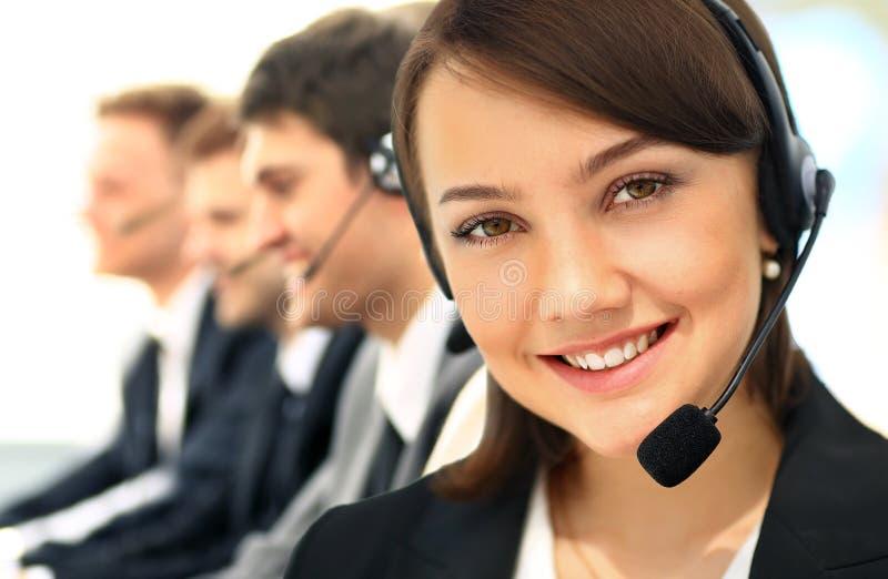 Call Center, Operator, Women. royalty free stock photography