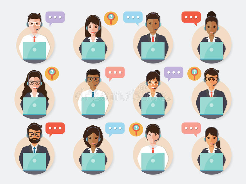 Call center people icon royalty free illustration