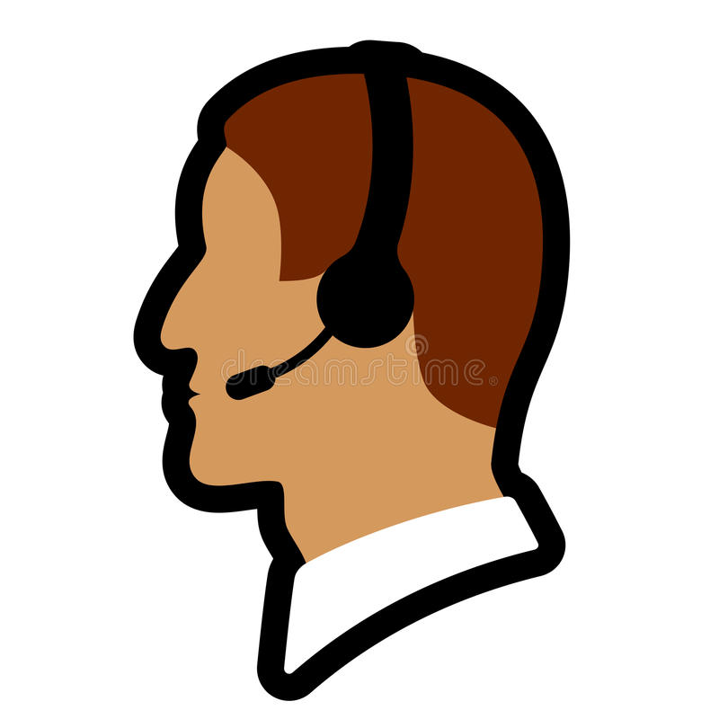 Download Call center person icon stock vector. Illustration of microphone - 26239173