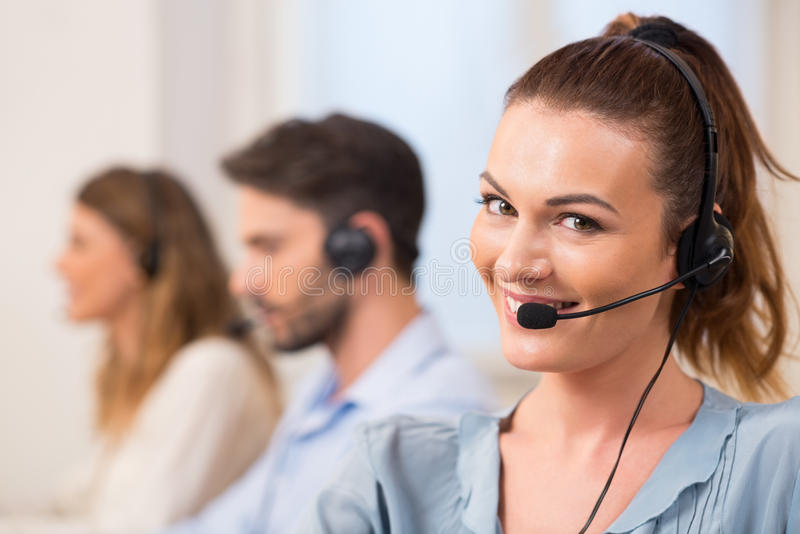 Download Call center stock photo. Image of headphone, center, portrait - 65374360
