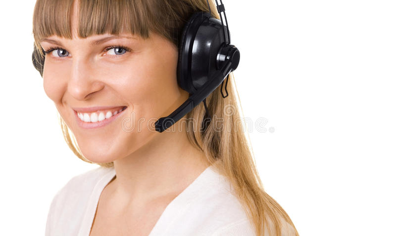Call-center representative isolated