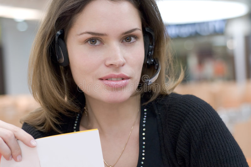 Call center secretary royalty free stock photography