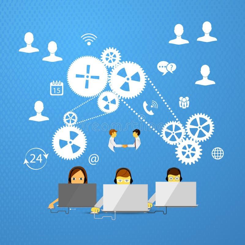 Call center support stock illustration