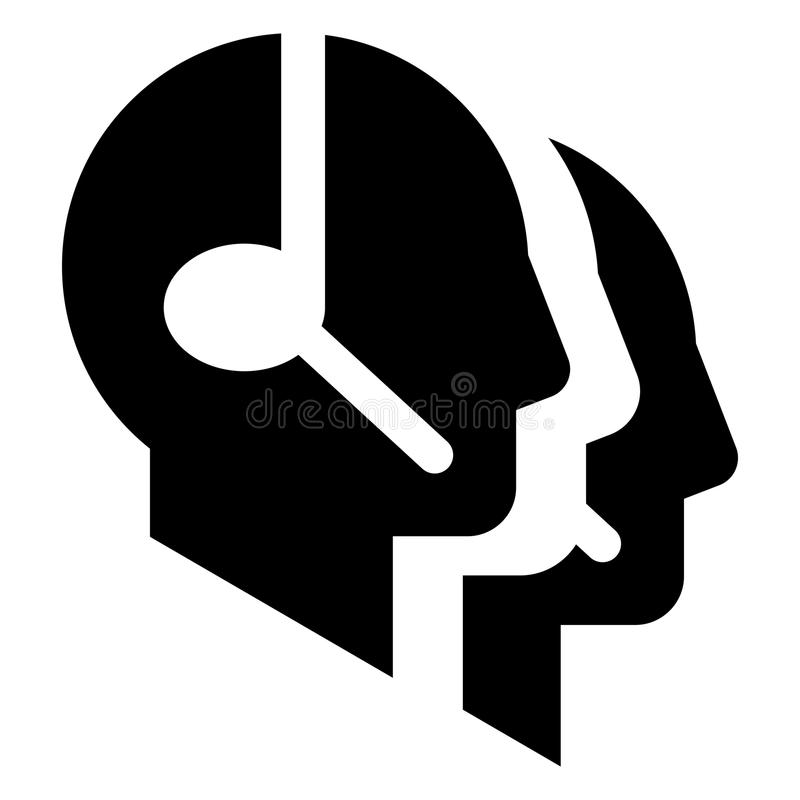 Download Call center vector icon stock vector. Image of head, office - 23684805