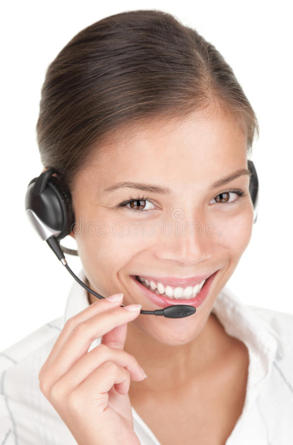 Download Call Center Woman With Headset Stock Image - Image: 13293579