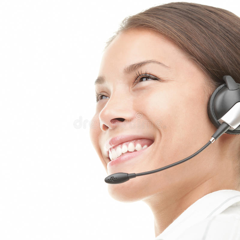 Free Call Center Woman Headset Royalty Free Stock Image - 16311516