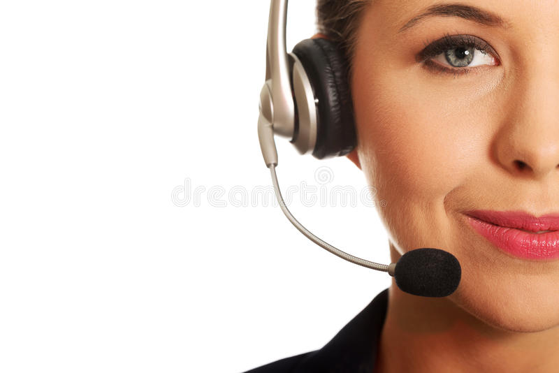 Call center woman stock photography