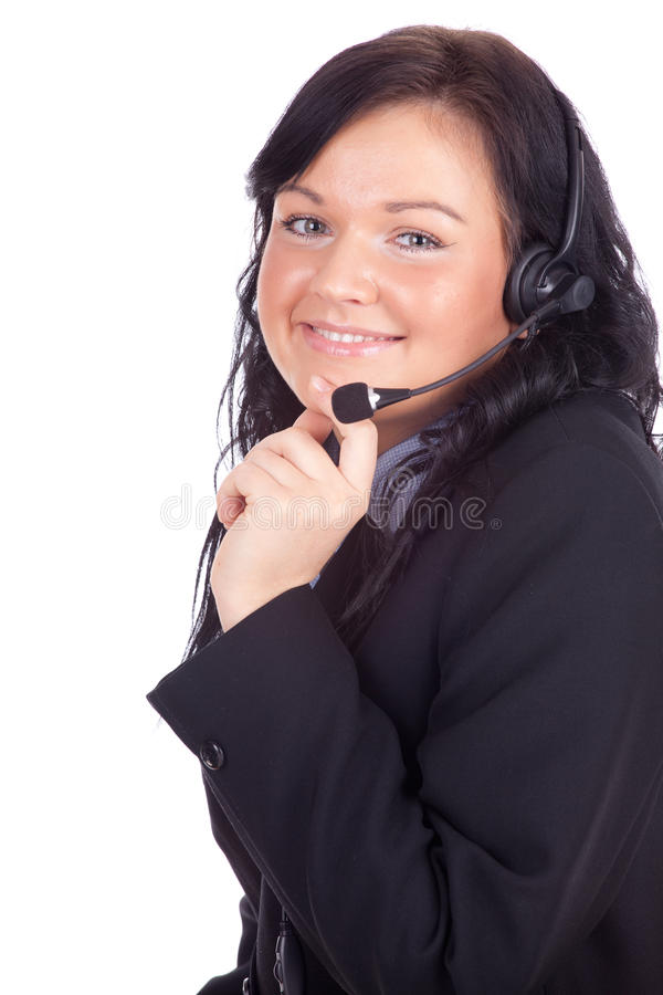 Call center young woman with a headset