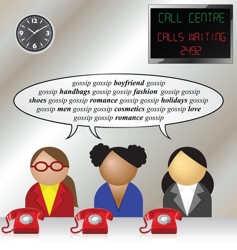 Call centre stock illustration