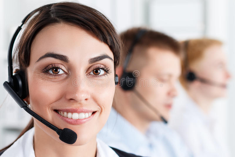 Call centre stock afbeeldingen
