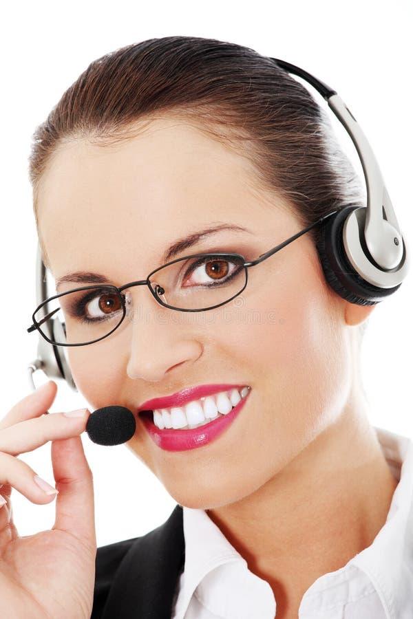 Call centre employee stock photos