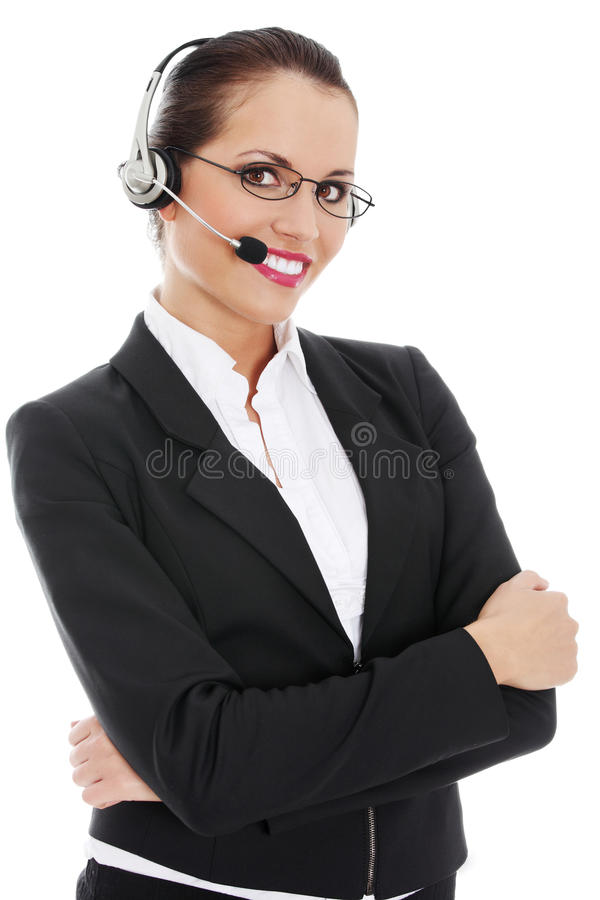 Call centre employee stock images