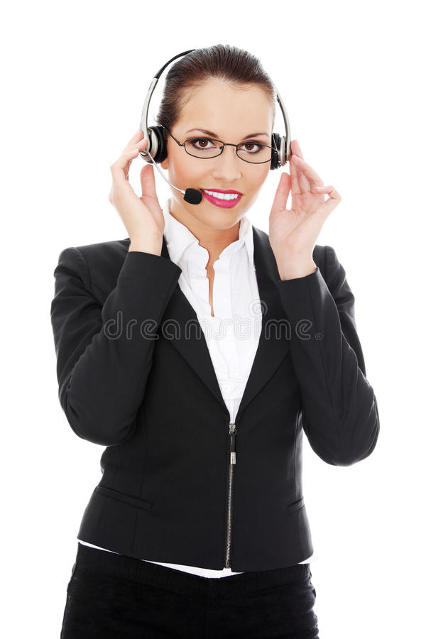 Call centre employee stock photography