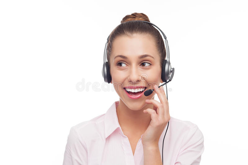 Download Call Centre Employee With A Headset Royalty Free Stock Photo - Image: 27292055