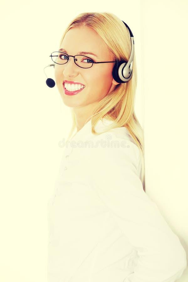Call centre employee stock photo