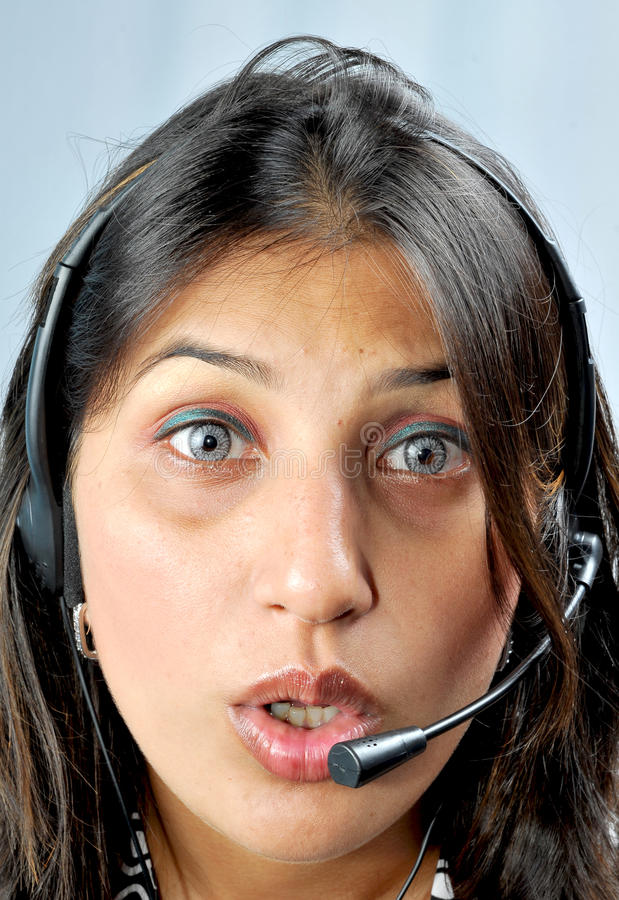 Download Call Centre Executive Face Shot Stock Photo - Image of call, beautiful: 10599554