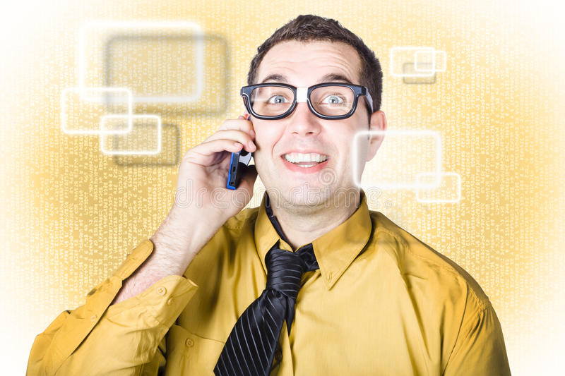 On Call IT Consultant Giving Network Advice Royalty Free Stock Photo