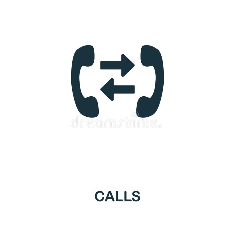 Call creative icon. Simple element illustration. Call concept symbol design from contact us collection. Can be used for web, mobil stock illustration