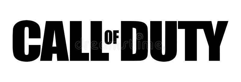 Call of duty Logo Vetora Illustration ilustração stock