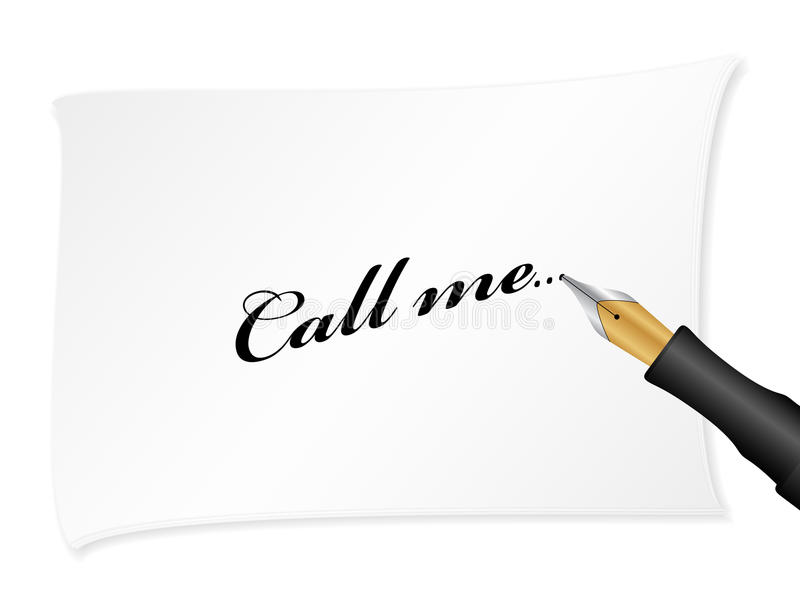 Download Call me stock vector. Illustration of page, text, call - 10905318