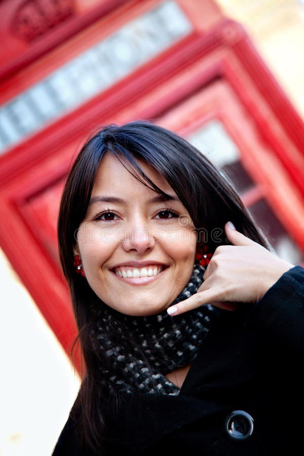 Download Call me! stock photo. Image of phone, person, communications - 15829202
