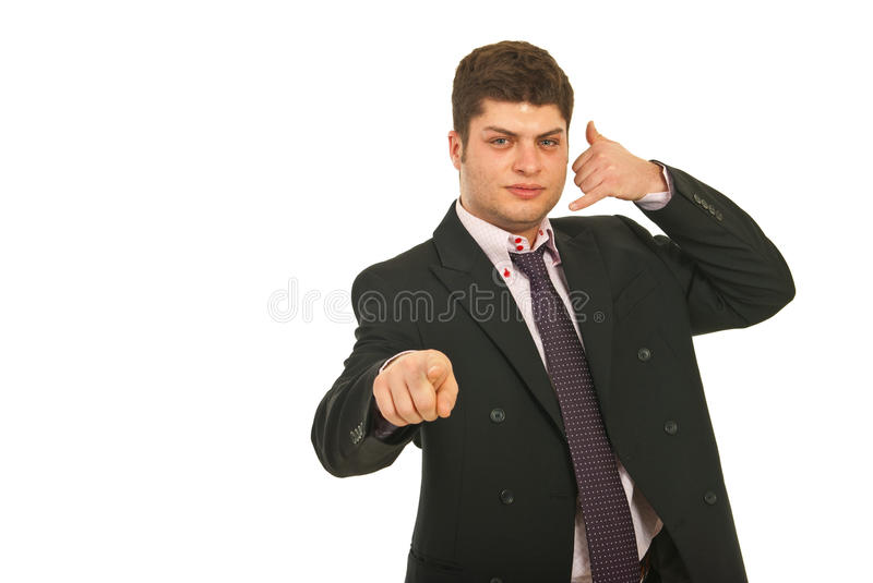 Download Call me! stock photo. Image of businessperson, gesturing - 23492300