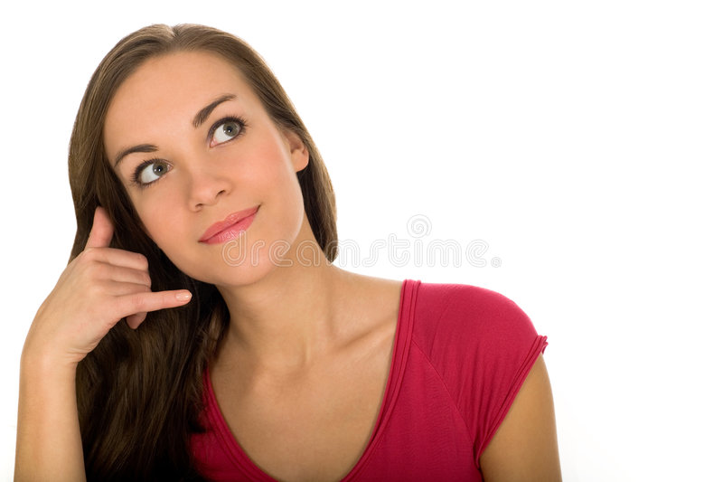 Download Call me stock image. Image of isolated, gesture, smiling - 7146617