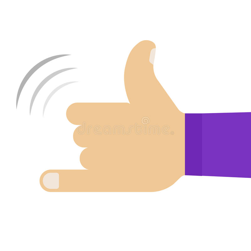 Call me hand vector royalty free stock image