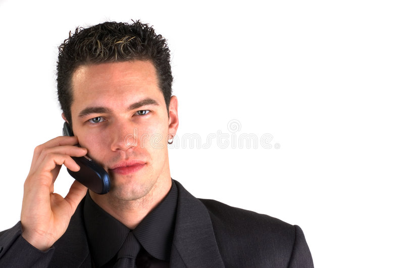 Call Me (Isolated) royalty free stock photo