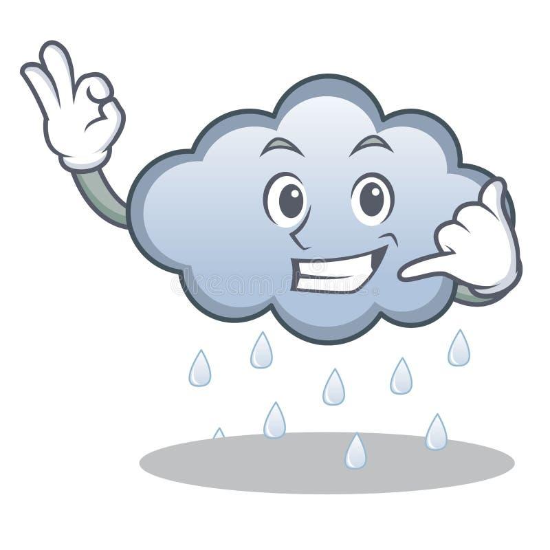 Call me rain cloud character cartoon. Vector illustration vector illustration
