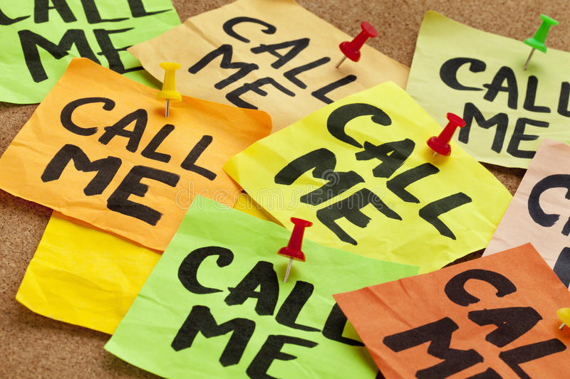 Download Call me request stock photo. Image of green, orange, brown - 19951158