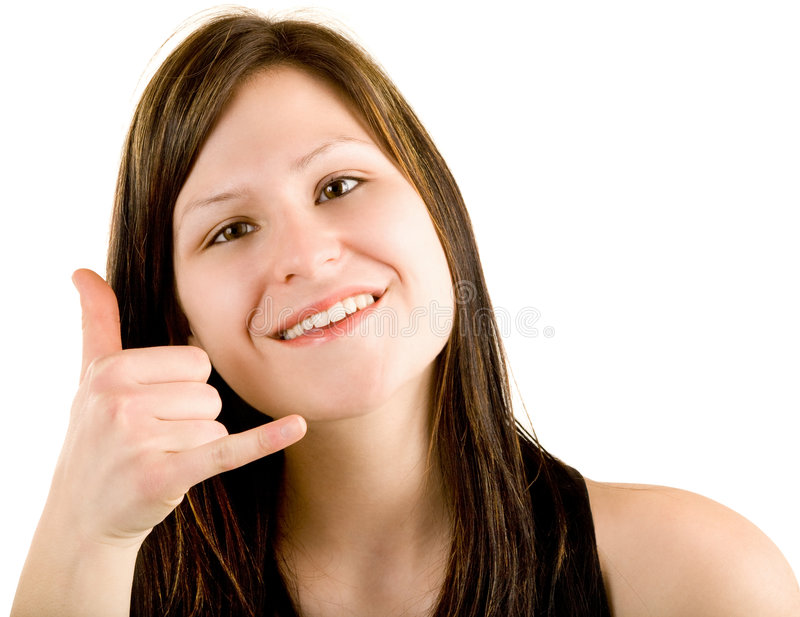 Download Call Me Sign stock photo. Image of people, finger, gesture - 9263262