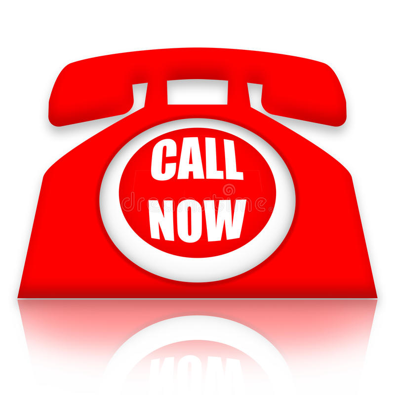 Call Now royalty free illustration