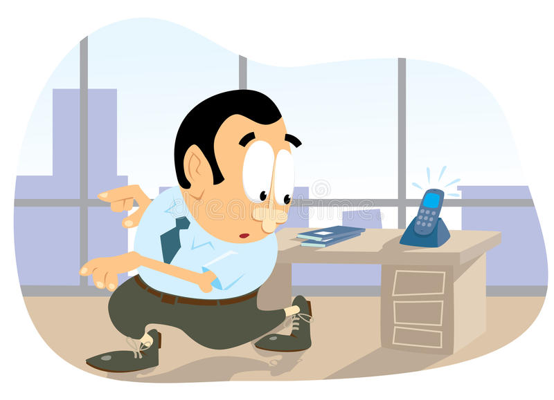 Download Call the office stock vector. Illustration of call, disappear - 12084544
