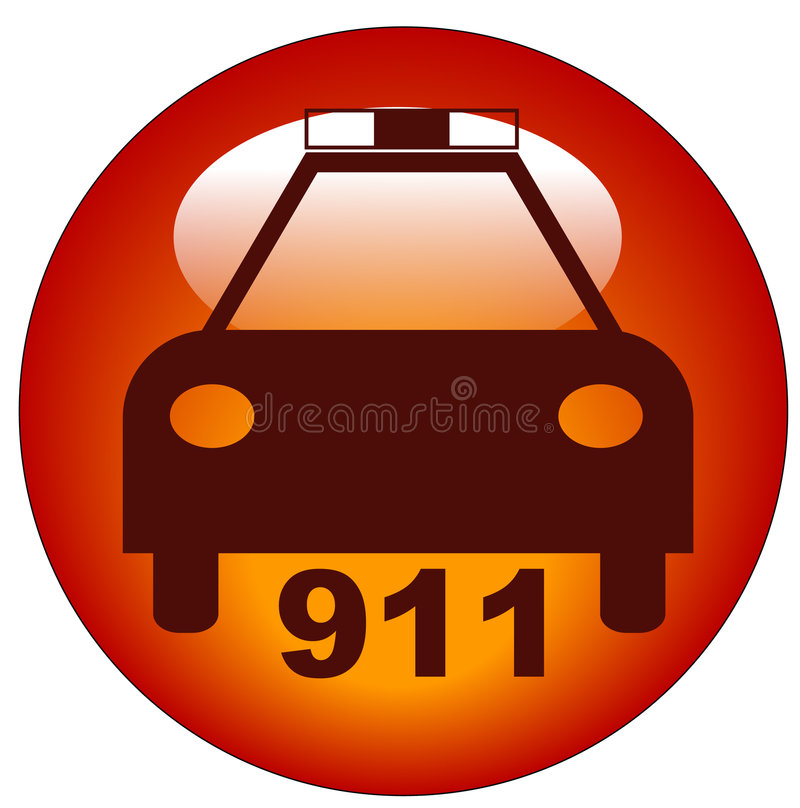 Download Call Police Icon Royalty Free Stock Image - Image: 6012636