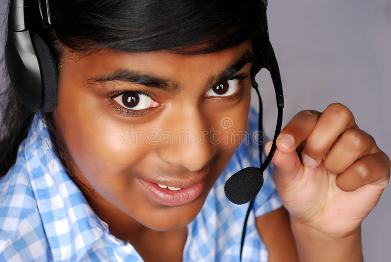 Call service lady stock images