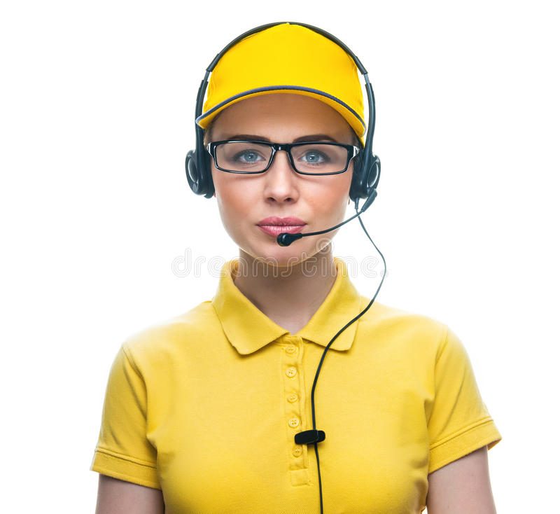 Call service operator royalty free stock image