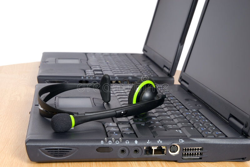 Call or support center gear stock image