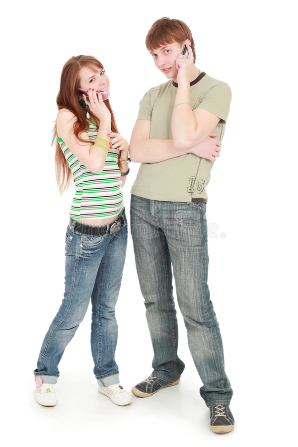 Download Call teens stock image. Image of looking, friendly, english - 5137979