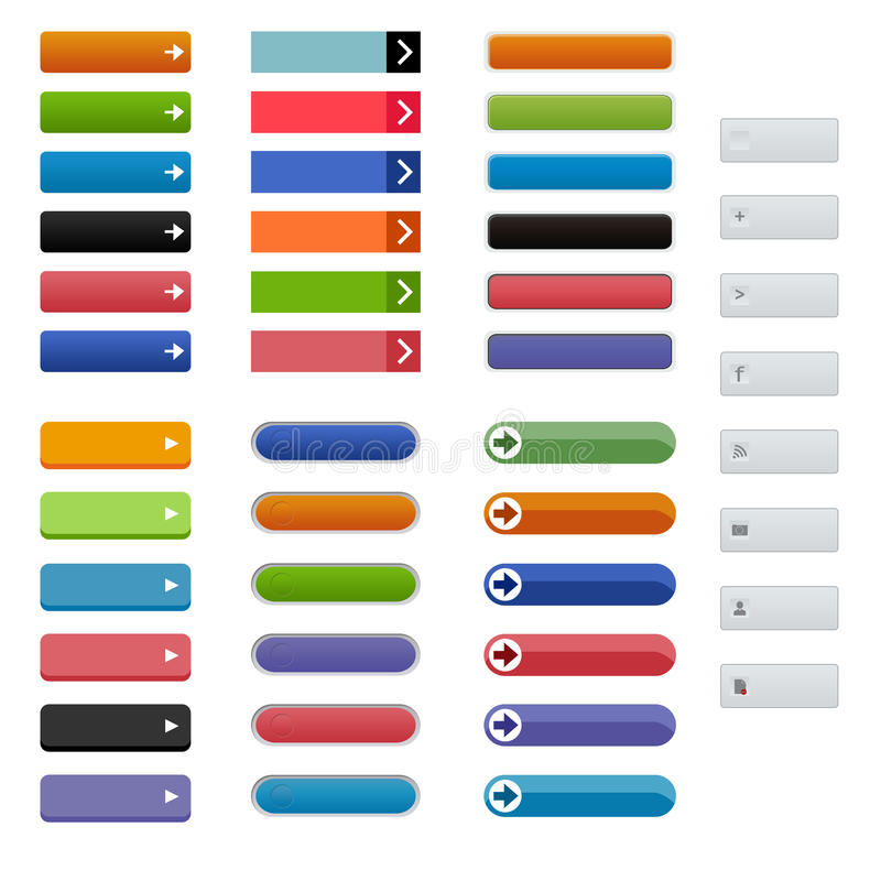 Call to Action Buttons royalty free illustration