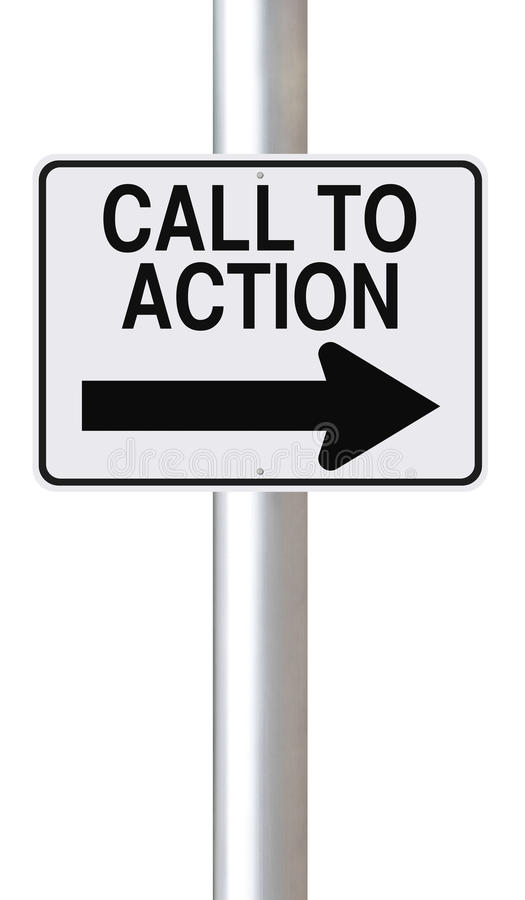Call to Action royalty free stock photo