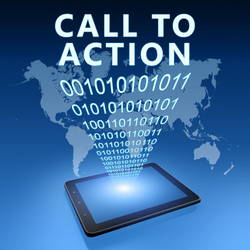 Call to action royalty free illustration