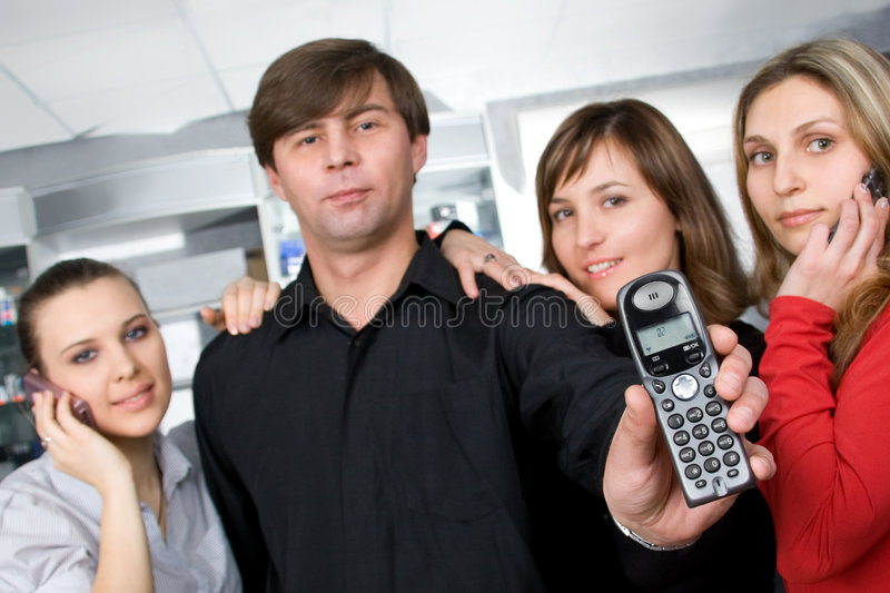 Download Call us anytime stock photo. Image of manager, businessman - 8028286