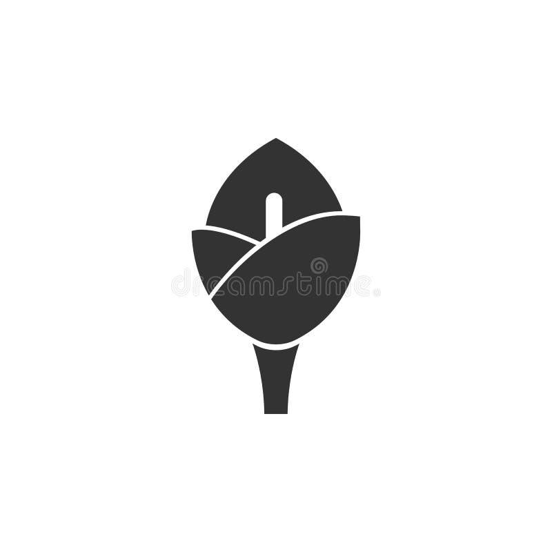 Calla, ícone lírio Elemento dos feriados da Páscoa para o conceito móvel e aplicativos Web Calla Detalhada, ícone de lírio pode s ilustração do vetor