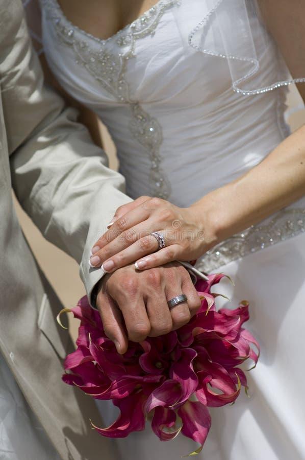 Calla het Boeket en de ringen van Lilly royalty-vrije stock foto's