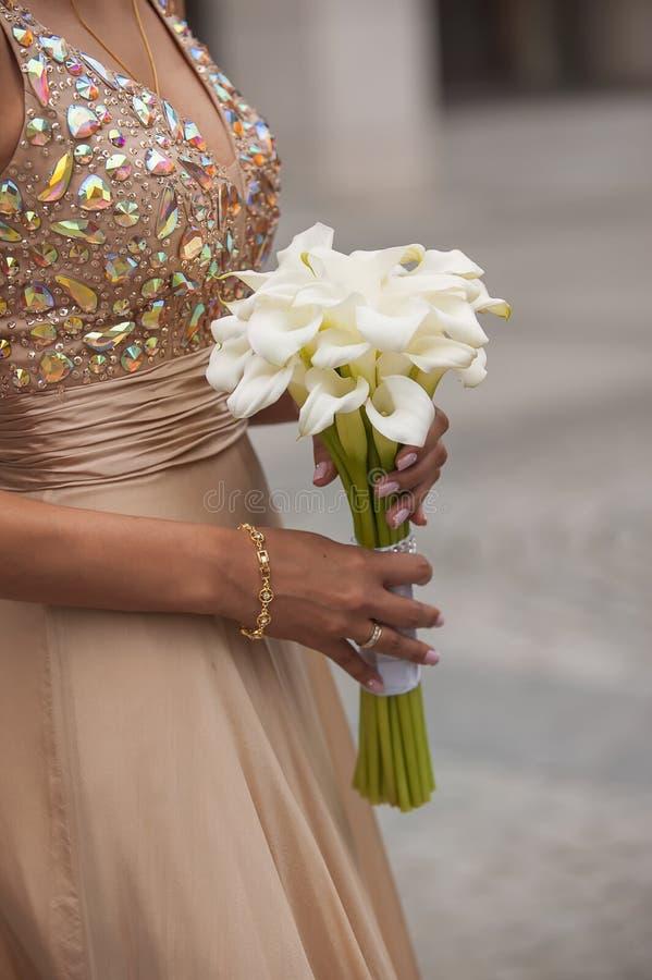 Calla Lilly Wedding Bouquet royalty-vrije stock fotografie