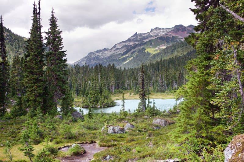 Callaghan湖,不列颠哥伦比亚省,加拿大 库存照片