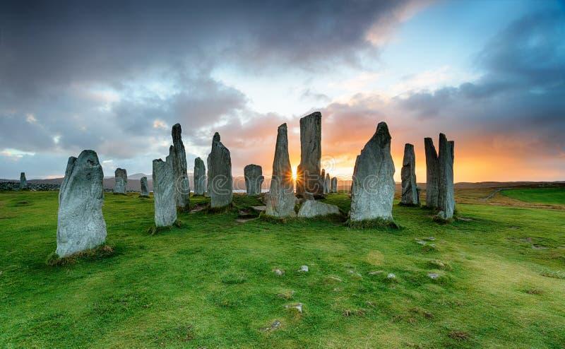 Callanish kamienie na wyspie Lewis zdjęcie stock