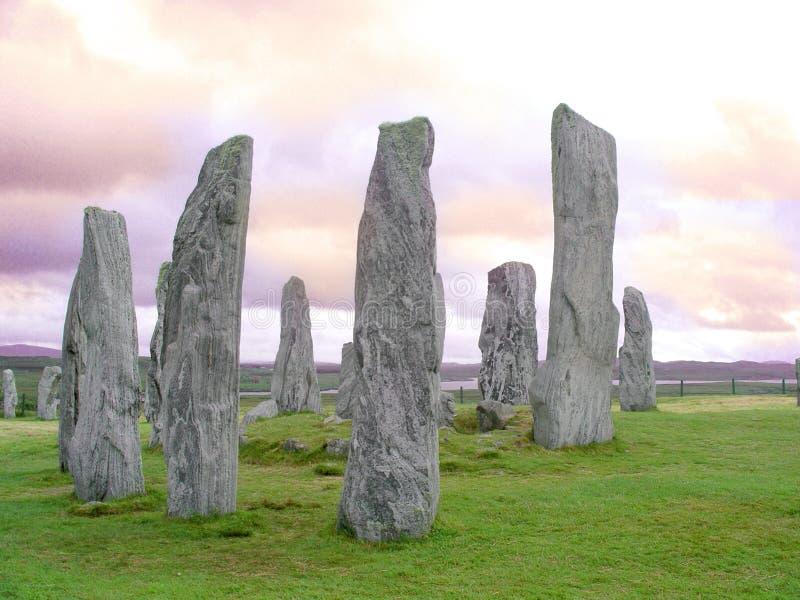 callanish położenie kamieni zdjęcie royalty free