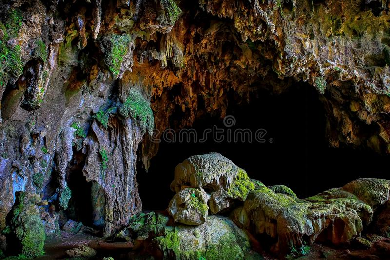 Callao cave entrance, penablanca, cagayan, philippines. Callao cave is one of the most popular limestone caves located in penablanca, cagayan province in the stock photography